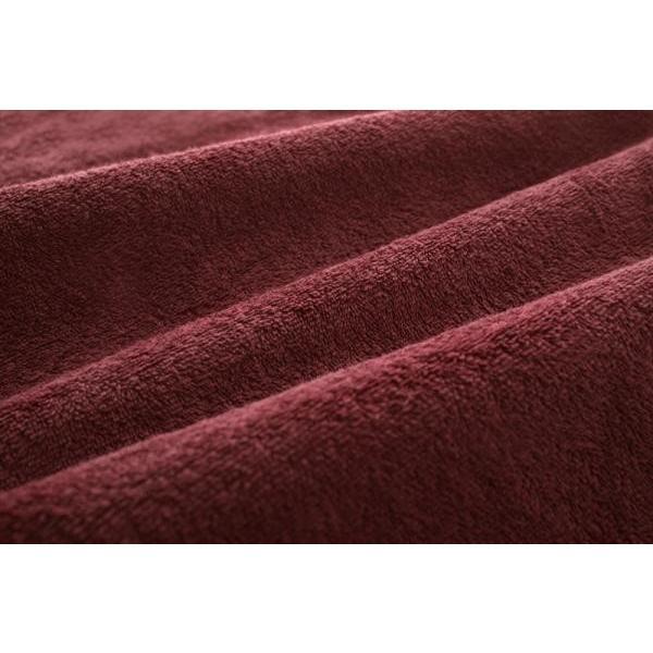 タオル地 敷きパッド一体型ボックスシーツ の単品(マットレス用) セミダブル 色-ワインレッド /綿100%パイル|kaitekibituuhan|02