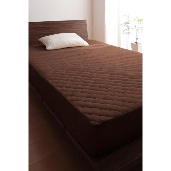 タオル地 敷きパッド一体型ボックスシーツ の単品(マットレス用) セミダブル 色-ワインレッド /綿100%パイル|kaitekibituuhan|15