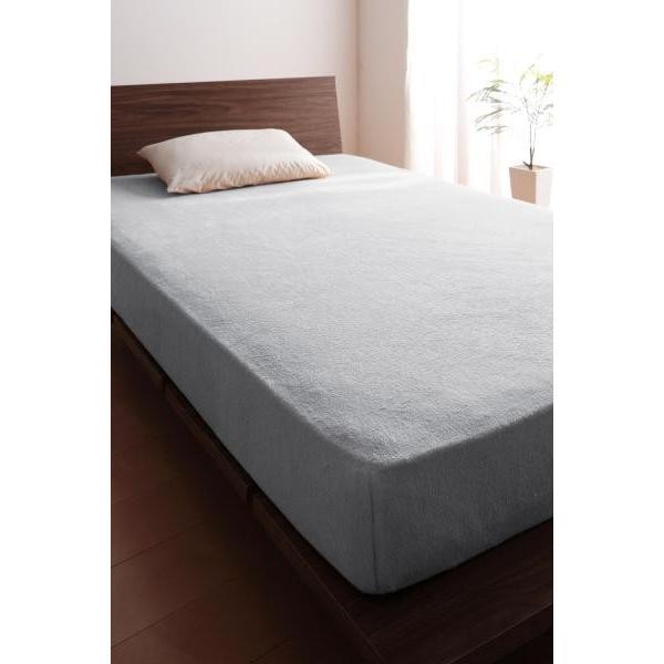 ベッド用 ボックスシーツの単品(マットレス用カバー) キング /タオル地 通気性 綿100%パイル|kaitekibituuhan|12