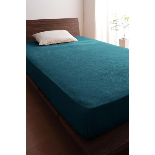 ベッド用 ボックスシーツの単品(マットレス用カバー) キング /タオル地 通気性 綿100%パイル|kaitekibituuhan|20