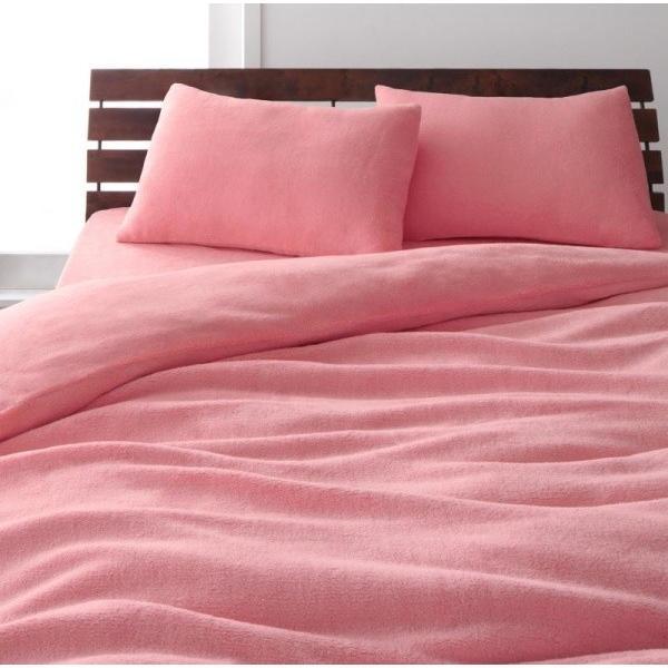 マイクロファイバー ベッド用 ボックスシーツ の単品(マットレス用カバー) ダブルサイズ 色-ローズピンク/ 洗える