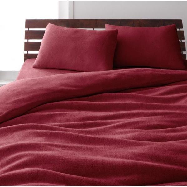 マイクロファイバー ピローケース(枕カバー)の同色2枚セット 43x63cm 色-ワインレッド kaitekibituuhan