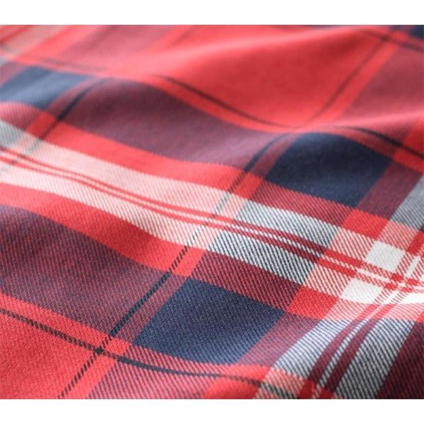 先染めタータンチェック柄 掛け布団カバー の単品 シングル 色-レッド /綿100% kaitekibituuhan 02
