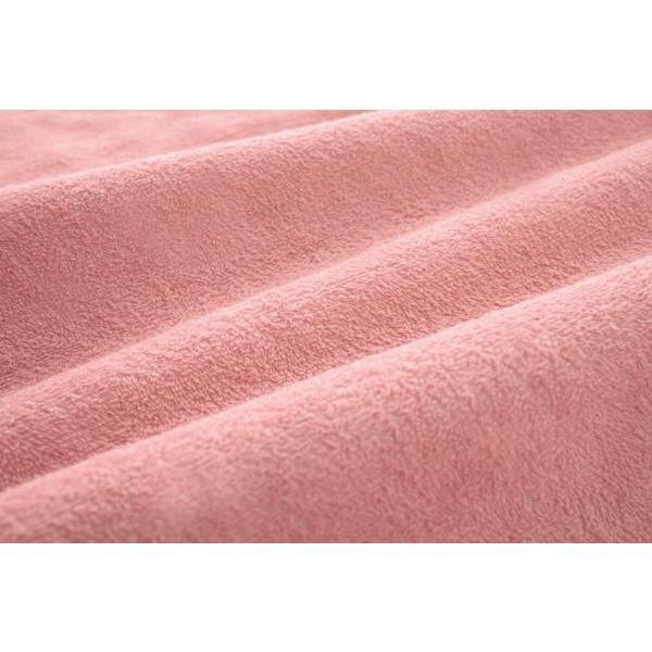 タオル地 敷きパッド の同色2枚セット シングル ショート丈 色-ローズピンク /綿100%パイル|kaitekibituuhan|02