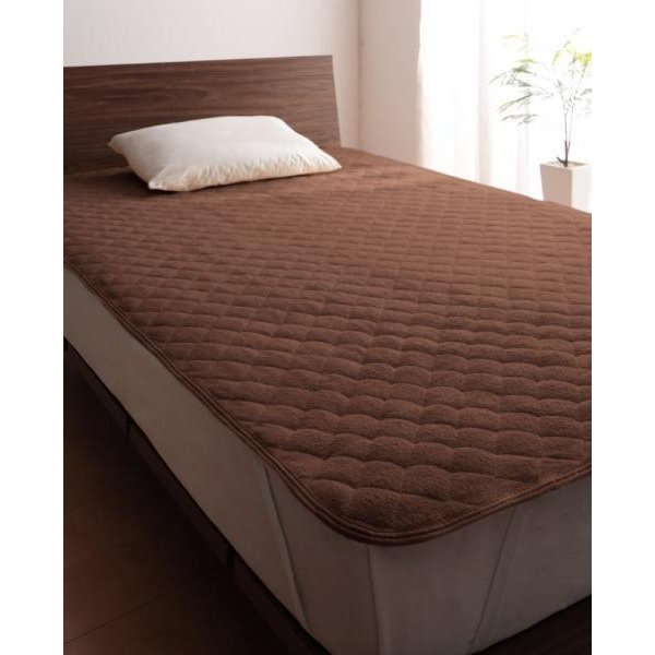 タオル地 敷きパッド の同色2枚セット シングル ショート丈 色-ローズピンク /綿100%パイル|kaitekibituuhan|10