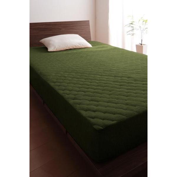 敷きパッド一体型ボックスシーツ の同色2枚セット シングル ショート丈 /タオル地 通気性 洗える 綿100%パイル kaitekibituuhan 13