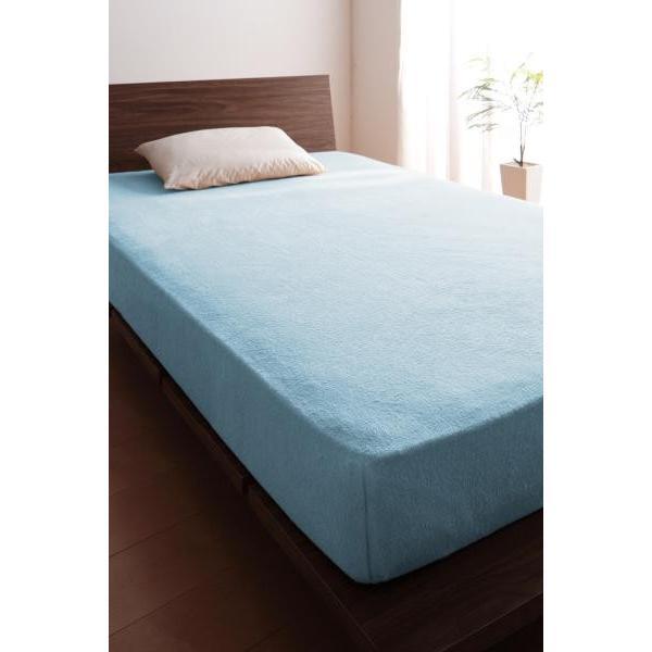 タオル地 ベッド用 ボックスシーツ の同色2枚セット シングル ショート丈 色-ローズピンク /綿100%パイル|kaitekibituuhan|07