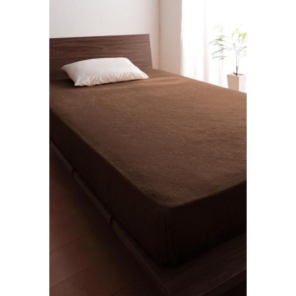 タオル地 ベッド用 ボックスシーツ の同色2枚セット シングル ショート丈 色-ローズピンク /綿100%パイル|kaitekibituuhan|10