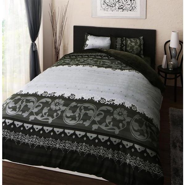 フランネル ベッド用 ボックスシーツ の単品(マットレス用カバー) セミダブルサイズ 色-チャコールグレー /暖かい 洗える