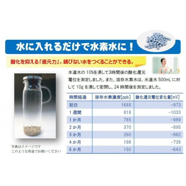 【水の力】水素還元セラミックボール 10g  簡単使用マニュアル付き  ※最大溶存水素濃度1.6ppm・最大酸化還元電位−1000mv どこでも還元水素水が作れます! |kaitekidesu|02