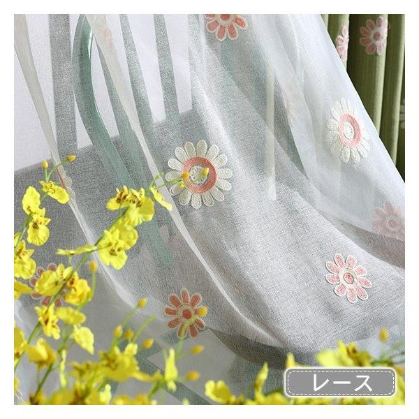 レースセット おしゃれ 北欧 安い 遮光裏地付き可能 レースカーテン 花柄 オーダーカーテン 植物 送料無料|kaitekihome|15