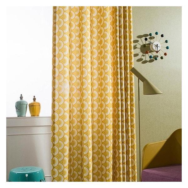 オーダーカーテン 送料無料 ドレープカーテン タッセル オーダー 黄色 遮熱 北欧 可愛い カーテン|kaitekihome|04