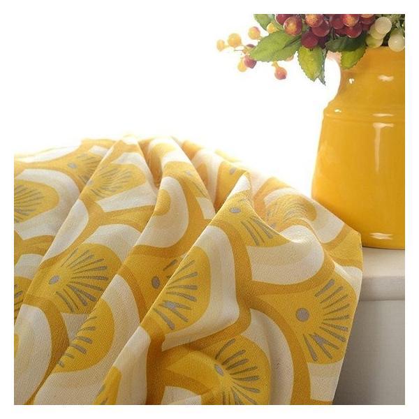 オーダーカーテン 送料無料 ドレープカーテン タッセル オーダー 黄色 遮熱 北欧 可愛い カーテン|kaitekihome|05