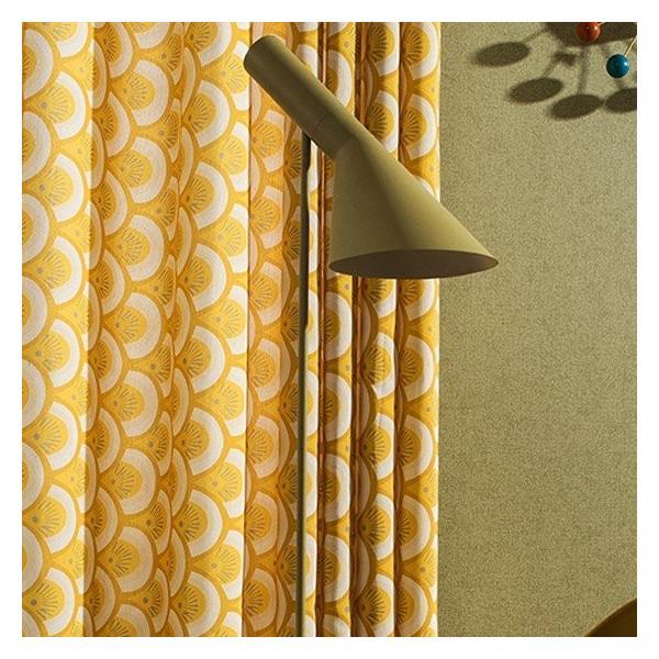 オーダーカーテン 送料無料 ドレープカーテン タッセル オーダー 黄色 遮熱 北欧 可愛い カーテン|kaitekihome|07