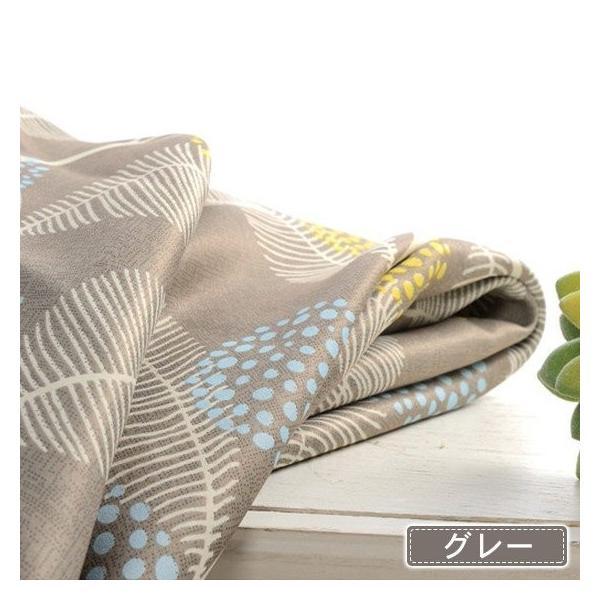 オーダーカーテン プリント カーテン オーダー 遮光カーテン グレー ベージュ 2級遮光 植物 リーフ柄 遮熱 保温 送料無料|kaitekihome|07