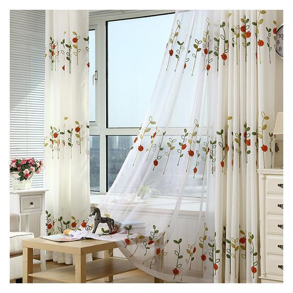 カーテン セット 北欧 安い オーダーカーテン お得なサイズ 草木 柄 かわいい おしゃれ 幅60×100cm丈60×100cm|kaitekihome|03