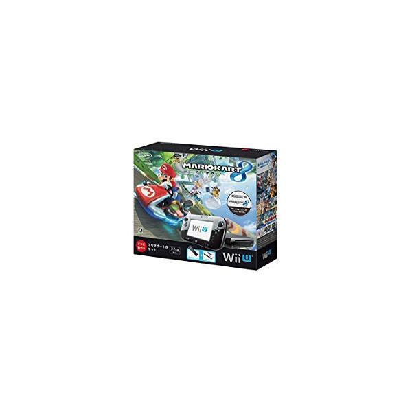Wii U すぐに遊べる マリオカート8 セット クロ(初期化済)(WUP-S-KAGHの画像