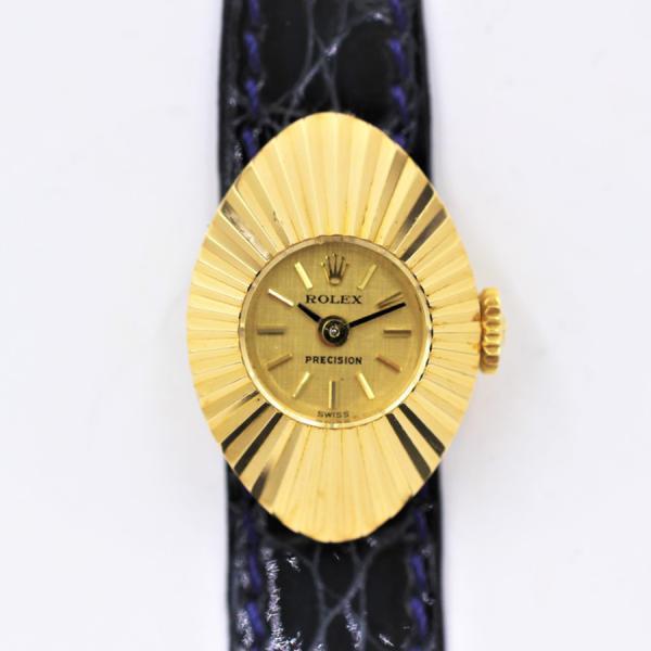 ロレックス 腕時計カメレオン200029番台YG×革ベルト手巻きアンティーク中古品