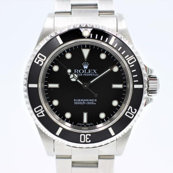 ロレックス 腕時計サブマリーナノンデイト14060ブラック自動巻き中古品