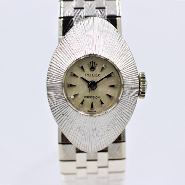 ロレックス 腕時計カメレオンプレシジョンK18WGシルバー60年代アンティーク手巻き中古品