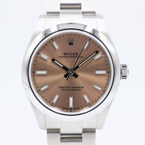 ロレックス 腕時計オイスターパーペチュアル277200ピンクランダムSS2020年モデルレディース自動巻き中古品