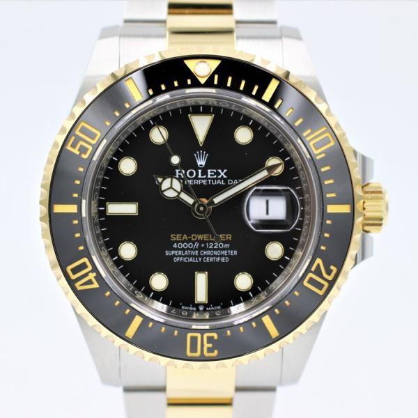 ロレックス 腕時計シードゥエラー126603YG×SSコンビロレゾールブラック2020年モデル自動巻き中古品