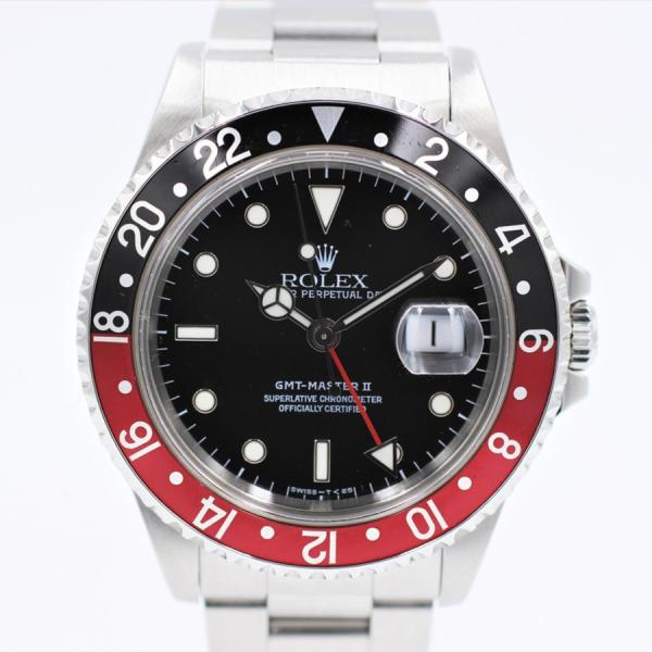 ロレックス 腕時計GMTマスターII16710コークカラーSSブラックメンズ自動巻き中古品