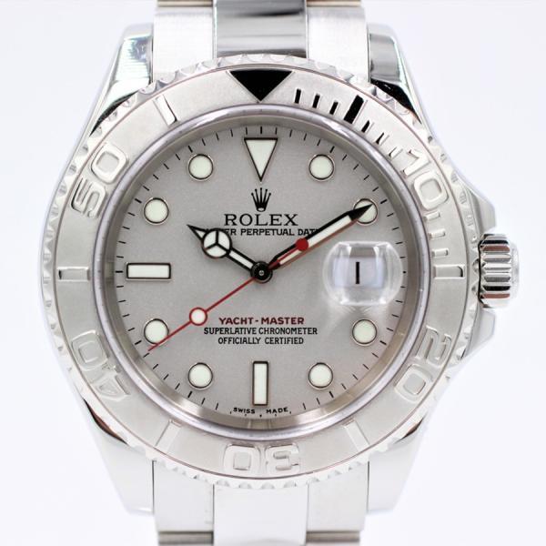 ロレックス 腕時計ヨットマスターロレジウム16622SS×PTメンズ自動巻き中古品