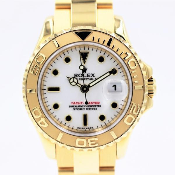 ロレックス 腕時計ヨットマスター169628ホワイトK18YGレディース自動巻き中古品