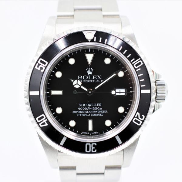 ロレックス 腕時計シードゥエラー16600P品番ブラックSS自動巻き中古品