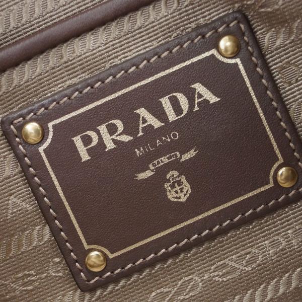プラダ バッグ 1BA841 PRADA 2WAY トートバッグ ストラップ付き LOGO JACQUARD CORDA+BRUCIATO ロゴジャガード カーキ/ブラウン アウトレット