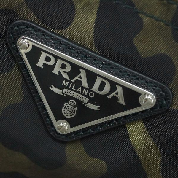 プラダ バッグ 1BG626 PRADA トートバッグTESSUTO STAMPAT MIMETICO L ミメティコ レオパード ナイロンカーキ アウトレット