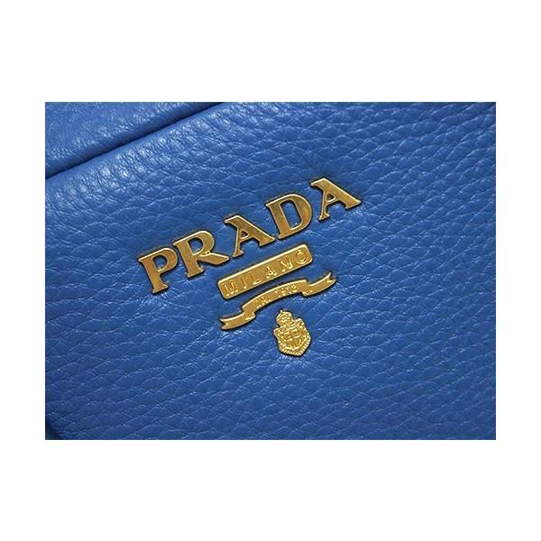 プラダ バッグ B3091M PRADA ハンドバッグ ボストン VIT.DAINO COBALTO コバルト カーフブルー ゴールド金具 アウトレット
