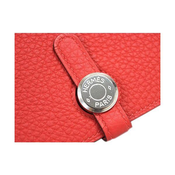 エルメス 財布 H043070CK2R HERMES ドゴン 長財布 ドゴンデュオ 小銭入れ付き トゴ シルバー金具 T刻印 ルージュピヴォワンヌ