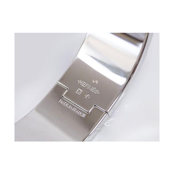 エルメス ブレスレット H300001FP43 HERMES ソルド アクセサリー バングル クリック・クラック アッシュ ジョーヌソレイユ シルバー金具 PMサイズ