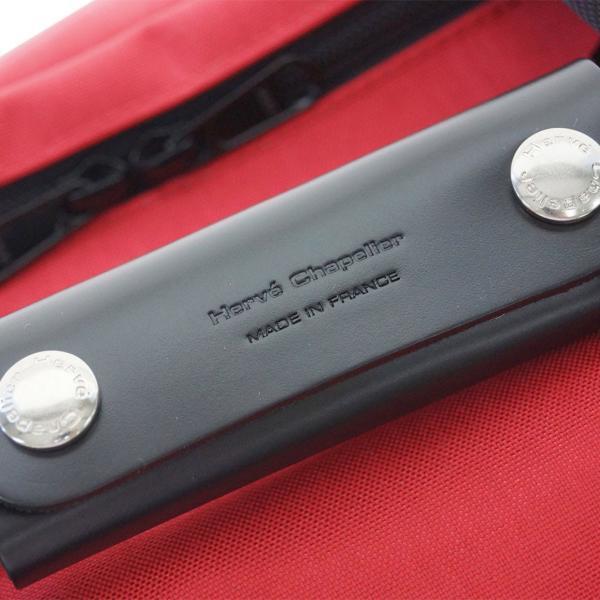 エルベ バッグ 1954CB エルベ・シャプリエ トラベル・ソフトガーメントケースXXL レザーグリップ コーデュラナイロン レッドxブラック