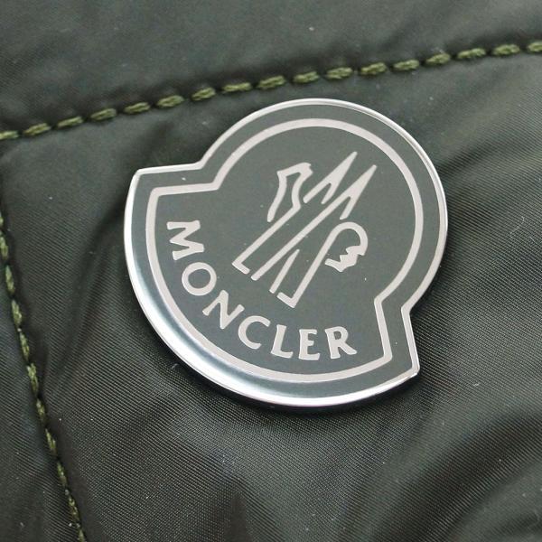 MONCLER モンクレール ポーチ ロゴプレート キルティング ナイロン カーキ 17127 アウトレット