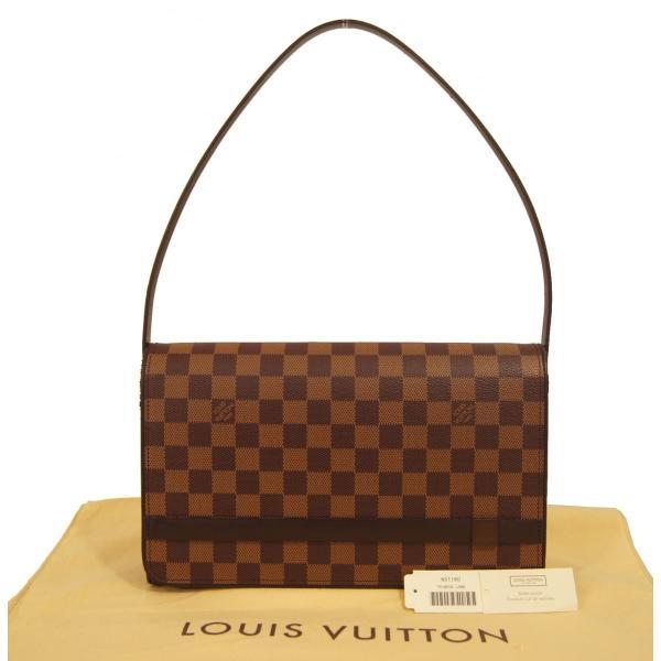 【中古】ルイヴィトン バッグ N51160 LOUIS VUITTON ヴィトン ダミエ エベヌ LV ショルダーバッグ トライベッカ・ロン YJL2403