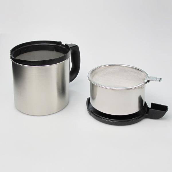 ダスキン 油っくりんナイス スタートセット フィルター4個 オイルポット ステンレス 油こし器 活性炭 フィルター ステンレス|kajitano|03