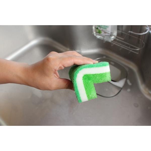 ダスキン 台所用スポンジ抗菌タイプ ライトグリーン  ダスキン スポンジ 台所 キッチン用 食器洗い kajitano 05