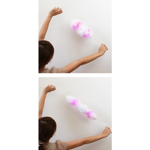 マーナ 背中も洗える シャボンボール オーロラ 全4色 泡立てネット シャボン ボディーブラシ ボディースポンジ ボディタオル 背中洗い|kajitano|04