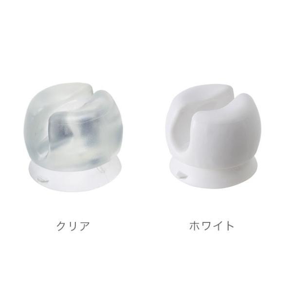 マーナ 歯ブラシホルダー 2個セット きれいに暮らす 洗面シリーズ 歯ブラシ ホルダー 吸盤 シンプル おしゃれ お風呂 洗面 収納|kajitano|02