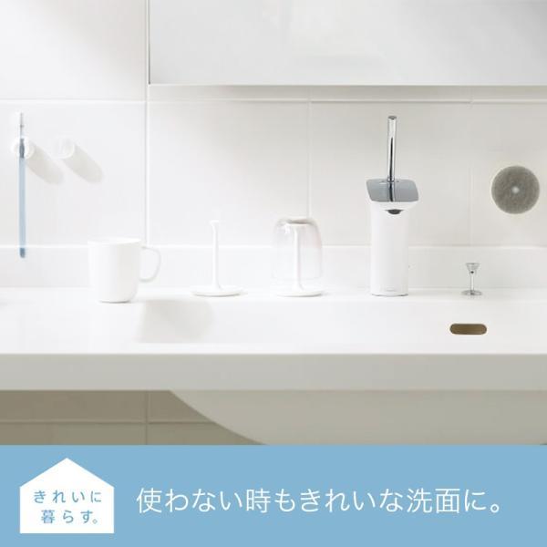 マーナ 歯ブラシホルダー 2個セット きれいに暮らす 洗面シリーズ 歯ブラシ ホルダー 吸盤 シンプル おしゃれ お風呂 洗面 収納|kajitano|04