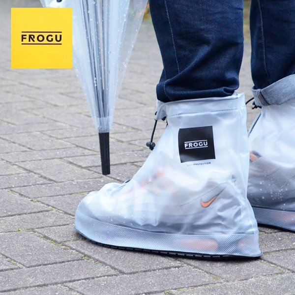 シューズカバー 防水 FROGU シューズカバー フロッグ 雨具 靴カバー ビニール 撥水 レインシューズ メンズ レディース kajitano