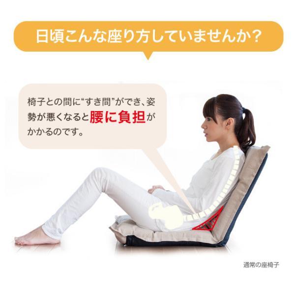 腰痛 椅子 座椅子 骨盤 姿勢矯正 骨盤矯正 猫背 グーン 背筋がGUUUN 美姿勢座椅子 リッチ|kajitano|03