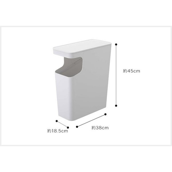 ダストボックス&サイドテーブル タワー  サイドテーブル ソファサイドテーブル ミニテーブル おしゃれ ゴミ箱 ごみ箱 リビング 白 黒 モノトーン kajitano 03