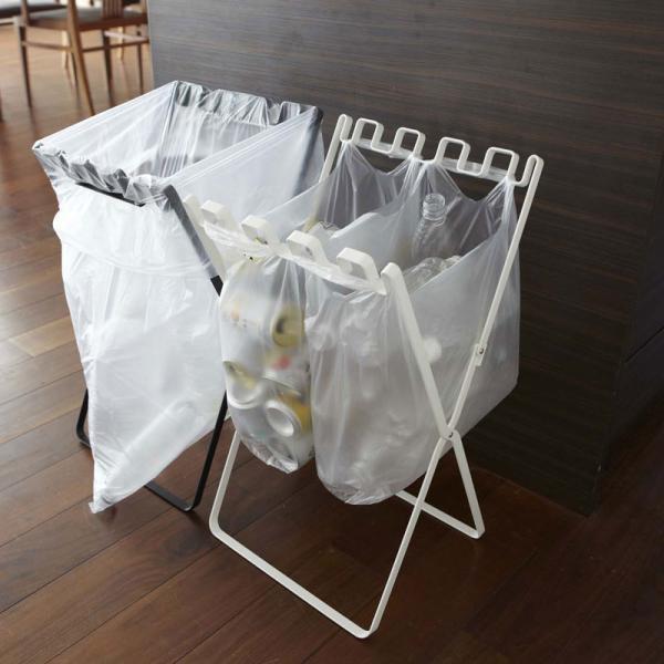 ゴミ袋&レジ袋スタンド タワー ゴミ袋 スタンド 折りたたみ ゴミ箱 分別|kajitano