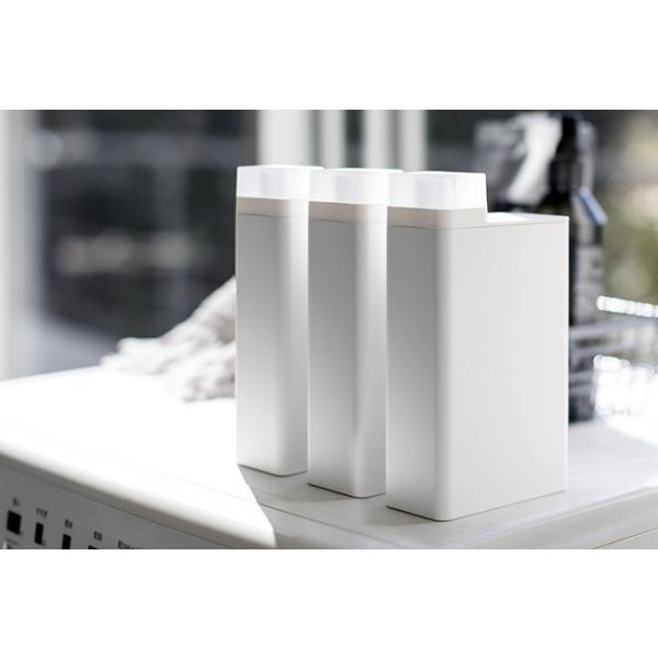 詰め替え用ランドリーボトル タワー 洗濯用洗剤 ディスペンサー 詰替え ボトル おしゃれ ホワイト ブラック 白 黒 洗剤ボトル|kajitano|04