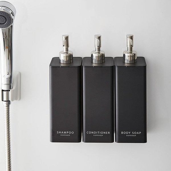 マグネット ツーウェイディスペンサー タワー 3本セット 詰め替えボトル シャンプー 収納 お風呂 バス ディスペンサー おしゃれ|kajitano|02