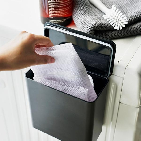 マグネット 洗濯洗剤ボールストッカー タワー ジェルボール 粉洗剤 ケース 収納 洗濯機 洗剤ケース シンプル おしゃれ 省スペース kajitano 02